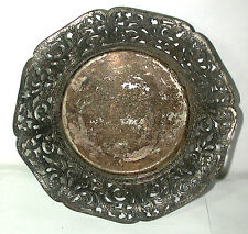"Antique Vintage FORBES Silver Co. Silverplate Filigree Bowl 6 1/2"" Dia. #1408"