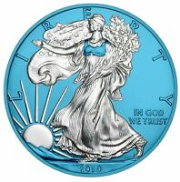 2019 American Silver Eagle 1oz .999 Silver Coin - Space Blue Edition