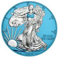 2019 American Silver Eagle 1oz .999 Silver Coin - Space Blue Edition