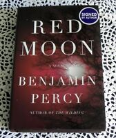Red Moon by Benjamin Percy SIGNED Stated 1st Edition D.C. Comics Green Arrow HB