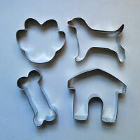 Dog Bone Paw Kennel & Dog Biscuit Cookie Cutter Set Fondant Steel Baking mold