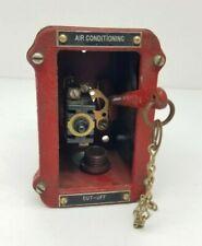 Vintage Ge Pull Station Break Glass Fire Alarm Ac Cut Off Cast Iron Box