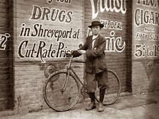 Vintage Bicycle Photo Bizarre Odd Freaky Strange