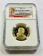2002 S $1 PF70 Ultra Cameo Gold Dollar Coin Sacagawea Red Label Ships Fast