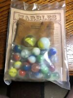 MARBLES With POUCH & INSTRUCTIONS 2 games American Folk Toys NIP 2 shooters