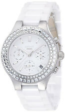 DKNY NY2223 Chambers Multi-function Crystals 38MM Women's White Ceramic Watch