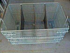 Collapsible Bulk Container, Silver, 22 in H x 20 in L x 32 in W, 1EA Heavy Duty