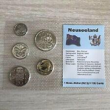 New Zealand  - 2004 - Mule Error Coin Set- Double Rim / 10 cent Mule
