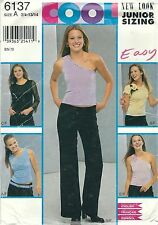 New Look 6137 Junior/Teen's Tops and Pants 3/4, 5/6, 7/8, 9/10, 11/12, 13/14