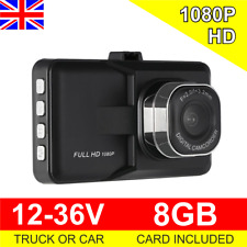 Truck or Car Dash Cam 12-36V Crash Camera 1080P HD with HDMI + 8GB Card 12V 24V