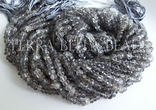 """13"""" strand shaded RUTILATED QUARTZ gem stone faceted rondelle beads 4mm"""