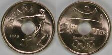 @NUMISBILBAO@ 25 PESETAS 1990 LANZADOR BARCELONA 1992 SIN CIRCULAR ESPAÑA KM#850
