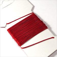 Cordon Coton Ciré 0,5mm – 5 Mètres Rouge pour Colliers et Bracelets de perles