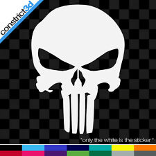 """(4x) THE PUNISHER SKULL 3.5"""" VINYL DECALS *ANY COLOR marvel comics"""