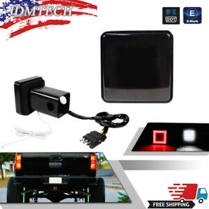 """80 LED Brake Light Trailer Hitch Cover Towing & Hauling 2"""" Receiver For Truck RV"""