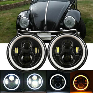 For VW Beetle Classic DOT 7 Inch LED  Headlights Upgrade Hi/Low Beam Round