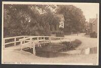 Postcard Brockenhurst nr Lymington New Forest Hampshire view of The Footbridge