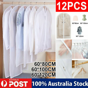 12x Clothes Cover Suit Dustproof Storage Bag Garment Dress Jacket Coat Protector