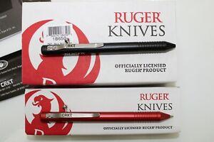 CRKT Knives RUGER Bolt Action Mechanical SCHMIDT PENCIL & FISHER SPACE PEN