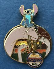 Disney LE Pin Stitch on Dinosaur Universe of Energy Epcot Adventure of Discovery