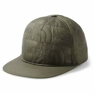 The North Face Quilted Cap Hat New Taupe Green