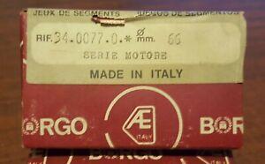 Fiat 850 , 850 sport,127 Piston ring set 66mm BORGO 34.0077.0 (1.0mm oversize)