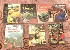 7 Vintage 70's How To Books Herbs-Camp-Bonsai-Furniture + by Sunset Design Books