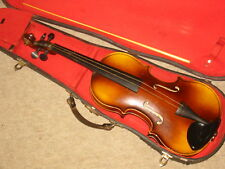 """Nice old Czech Violin  3/4 (?) violon nicely flamed """"Cremona Luby 1969"""""""