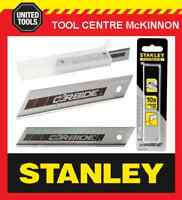 10 x STANLEY FAT MAX 18mm HEAVY DUTY CARBIDE SNAP-OFF SNAP KNIFE BLADES