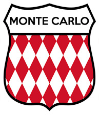 Monte Carlo car motorcycle sticker italy race rally Mille Miglia