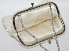 Vintage Retro 1970's Hong Kong White Beaded Sequins Evening Purse #3