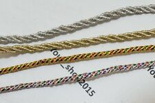2 Yard Rope Twisted lace trimming ribbon Dress making, Curtain, Cushion Tie Back