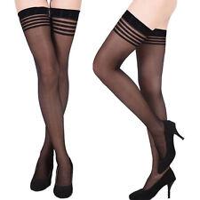 Sexy Damen Herbst Sommer Überknie Strümpfe Socken Overknee Strumpfhosen Schwarz