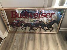 Very Rare Vintage Budweiser Horse Racing Mirror