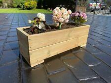 More details for hand made wooden planter large garden patio trough flower plant pot