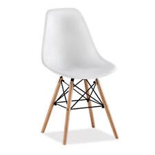 Lot de 4 chaises avec pieds en bois chaises solides salle à manger Blanc