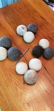 3 Large Wool Felted Dryer Balls, pet Toy