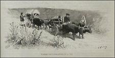 1890:SARDEGNA,USI.COSTUMI = Antico Carro a Ruote Piene = Barbagia.Passpartout..