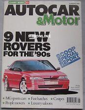 Autocar 3/1/1990 featuring Toyota Celica, VW, Honda, Land Rover Discovery V8