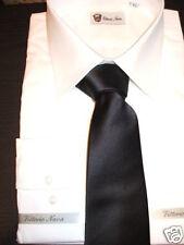 cravatta nera  rasata vintage made in italy BLACK SILK TIE fatta a mano