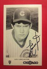 Les Lancaster Autograph 3 1/2 x 5 1/2  Photo  Cubs  Signed  Auto