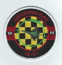 """131st FIGHTER SQUADRON """"CHECKERED FLAG 18-01"""" patch"""