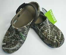 NWT CROCS Size 8 Mens Realtree Max-5 Camo Swiftwater Deck Clogs Adjustable New