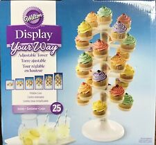 Wilton Display Your Way Adjustable Cupcake Tower 6 Levels Collapsible GIFT