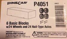 6 PineCar Derby KiTs Wheels,  Basic Blocks & Nail-type Axles Pinewood Race Car