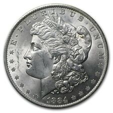 1884-O Morgan SILVER  Dollar,EYE APPEAL $- NGC GRADED MS 60,LAST ONE-NICE- #801