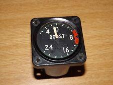 Post WW2 50s RAF Shackleton +24lb Boost Gauge Pilots Aircraft Cockpit Instrument