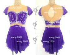 Figure Skating Competition Dress Ice Skating Dress Girl Costume purple handmade