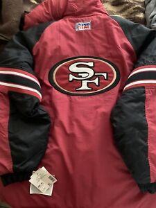 SF 49ers STARTER PULLOVER JACKET PROLINE BRAND NEW  XL RED/BLACK DYNASTY