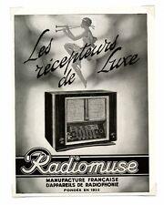 1940 / Publicité pour RADIOMUSE / POSTE RADIO RADIOPHONIE / FRLD149
